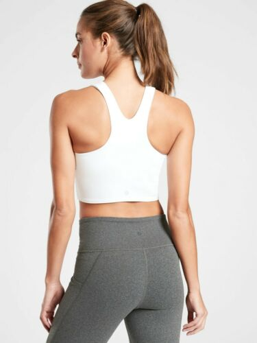 Details about  /NWT Athleta Conscious Crop in Powervita WHITE SIZE XS             #446564 T0714