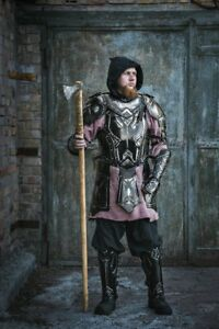 Medieval-Blackened-Steel-LARP-Armor-Dwarven-Style-Armor-Full-Suit-LOTR