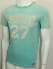 Polo By Ralph Lauren Custom Fit Football T-Shirt  Small Spring Turquoise  NWT