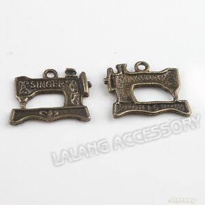 40x-140379-New-Sewing-Machine-Bronze-Charms-Pendants-Fit-Jewellry-Making-2mm