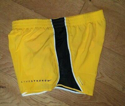 Nike Womens Tempo Shorts Livestrong 467936 703 Uk Xs S Dri Fit Yellow Black Qq Ebay