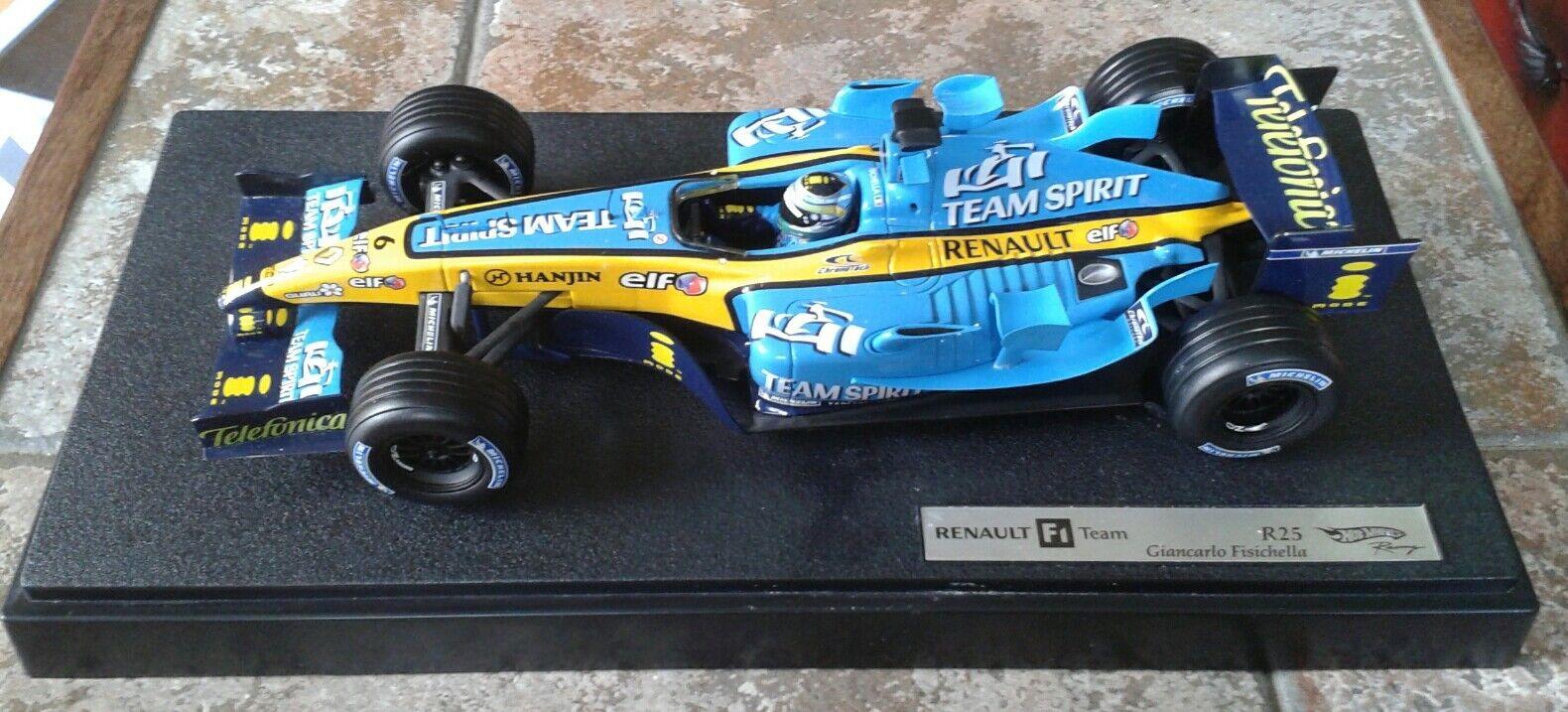 prodotto di qualità Caliente ruedaS F1 RACING RENAULT RENAULT RENAULT R25 Fisichella Scala 1 18 modellololo in scatola  varie dimensioni