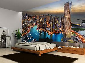 buildings skyline dubai marina city photo wallpaper wall mural giant