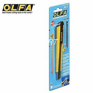 OLFA A-5 Standard Duty Featuring a one-way locking system auto-lock model NEW