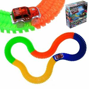 Magic Tracks The Amazing Racetrack Easy to Bend, Flex & Glow 11Ft As Seen on TV