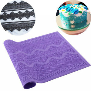 Silicone Necklace Mold Fondant Mat Lace Baking Mould Cake Sugar Decorating Craft