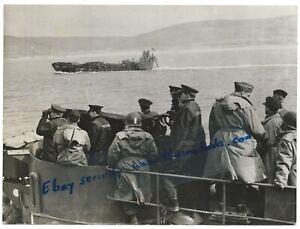 D-Day-039-44-March-rehearsal-Landing-Craft-USA-Navy-Slapton-Sands-Devon-Press-Photo