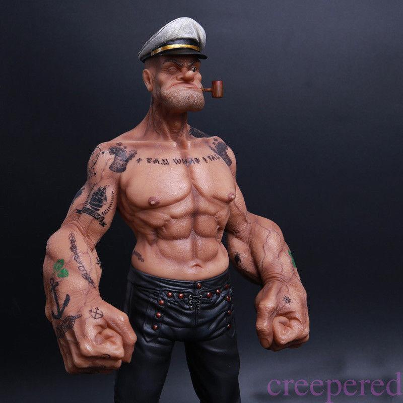 12  Popeye 1 6 FIGURE Sailor The Sailor FIGURE Resin Statue Realistic TATTOO BODY Model 11817e