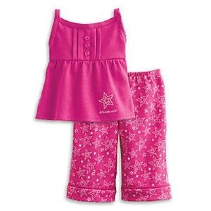 American Girl Doll Julie/'s Classic Pink PJs  NEW! Retired Butterfly Pajamas
