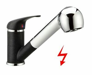 niederdruck wasserhahn ausziehbar k chenarmatur mischbatterie mit brause chrom ebay. Black Bedroom Furniture Sets. Home Design Ideas