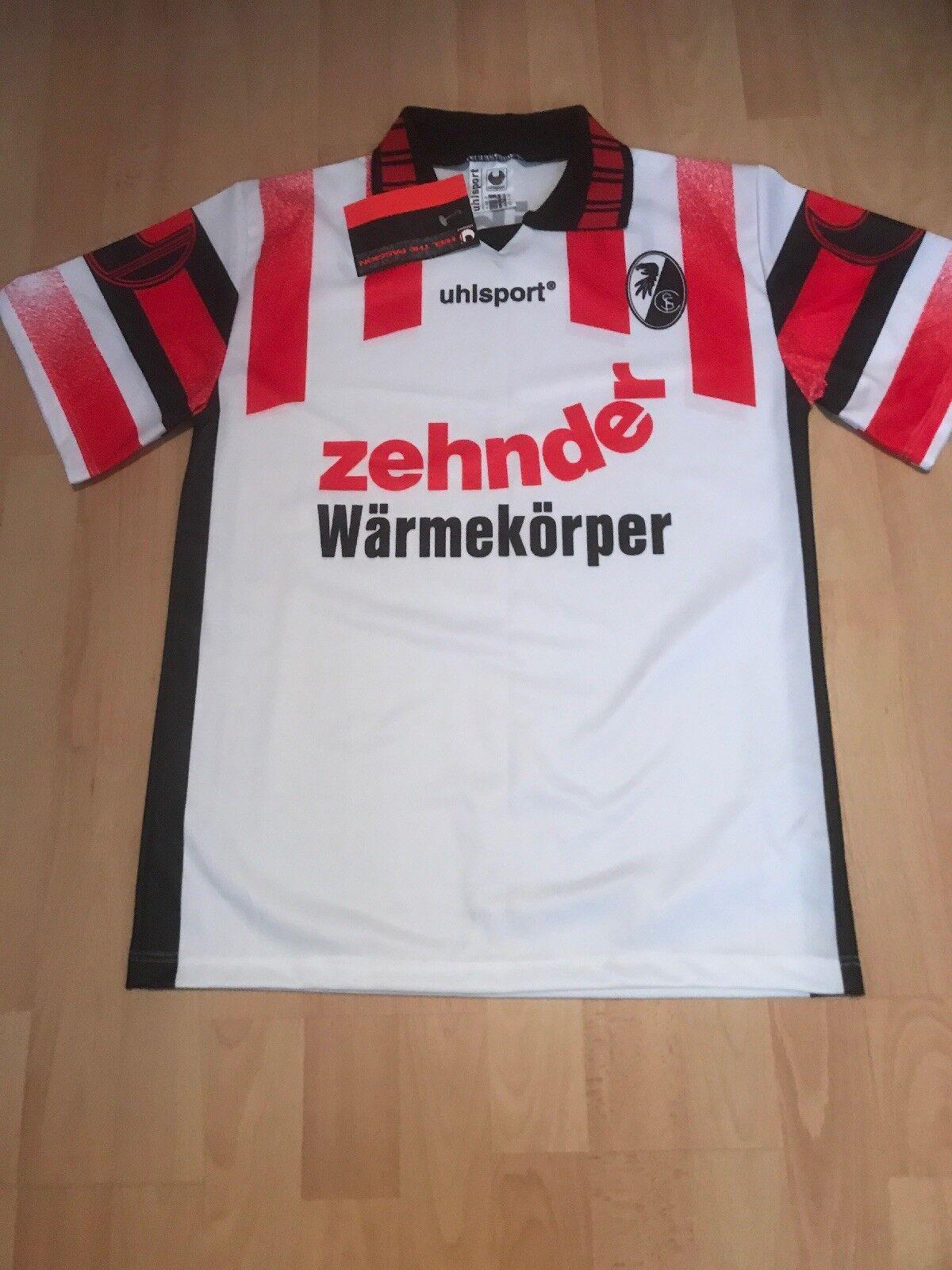SC Freiburg Original uhlsport Trikot 1995 96  zehnder Wärmekörper  Gr. XS Neu  | Vorzügliche Verarbeitung