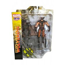 MARVEL SELECT WOLVERINE BROWN COSTUME X MEN ACTION FIGURE 22 CM NUOVO