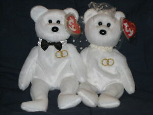 9433dc627bc TY MR   MRS BEANIE BABY BEAR WEDDING SET - MINT with MINT TAGS