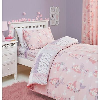 Bedlam Kids Children's Mermaid Reversible Floral Bedroom Collection Pink