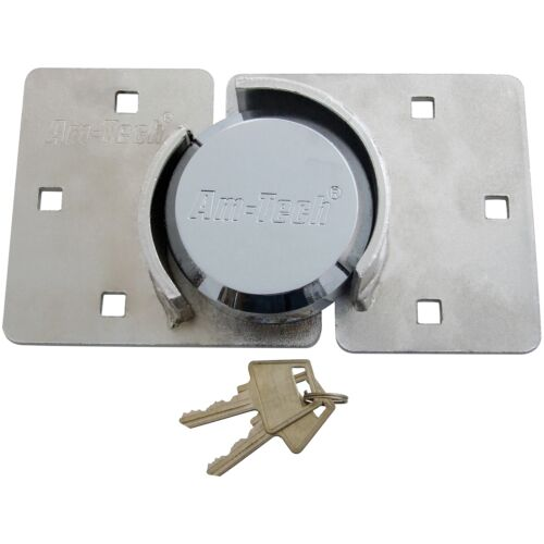 73mm SHACKLELESS ROUND PADLOCK WITH HASP HEAVY DUTY ROUND SECURITY LOCK SHED