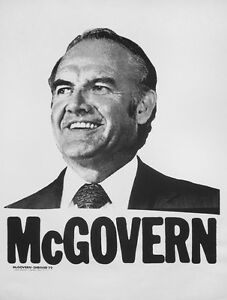 McGovern Schriver '72 original Election Campaign poster