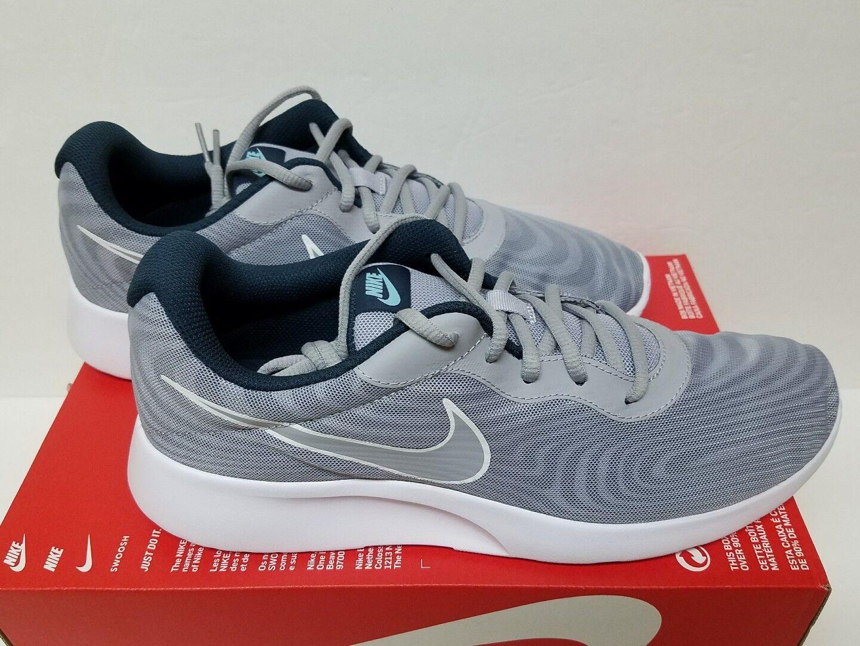 Nike tanjun prem taglia 10 uomini lupo grigio / lupo grigio scarpa da corsa