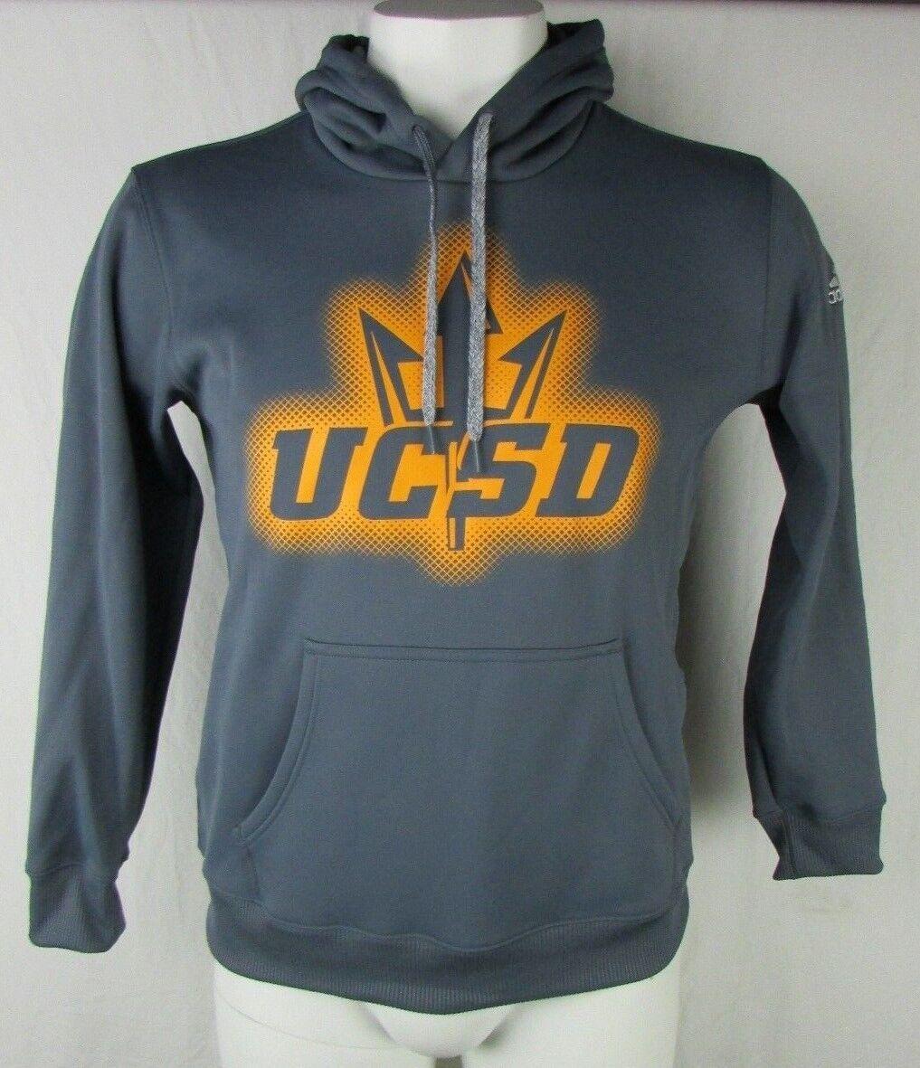 Sudadera con capucha adidas S M L XL 2XL para hombre de los tritones UC San Diego NCAA gris A14