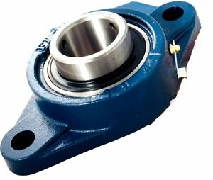 UCFLX10-50mm-Metrico-2-Bolt-Ovale-Flangia-Auto-Lube-Alloggiamento-Bearings-Ucflx