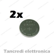 2X Batteria ricaricabile LIR2032 litio bottone rechargeable coin battery lithium