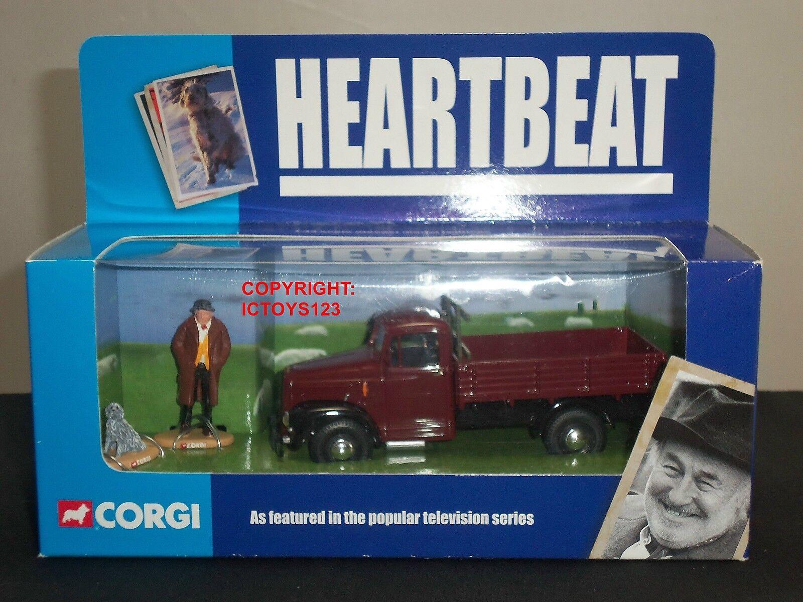 CORGI CC07301 Heartbeat Morris Commercial Diecast modèle camion vertgrass Figure