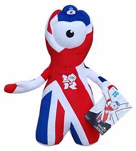 Jeux Olympiques De Londres 2012 Union Jack 44 Cm Tall Jumbo Wenlock Plush Toy Memorabilia-afficher Le Titre D'origine