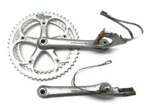 Vintage-Crank-Set-Shimano-600-AX-with-pedals-G14