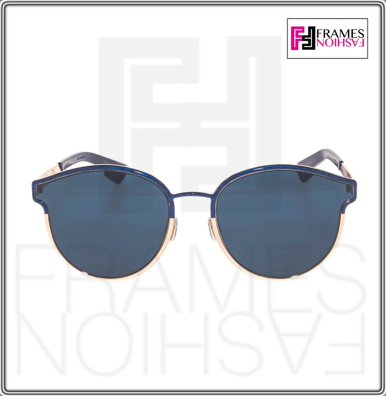 c323963717 Christian Dior Symmetric Rose Gold Marble Blue Mirrored Sunglasses ...
