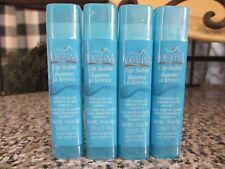 Lot of 4 Aquafina Lip Balm With Jojoba Oil Almond Oil & Vitamin E Pure Original