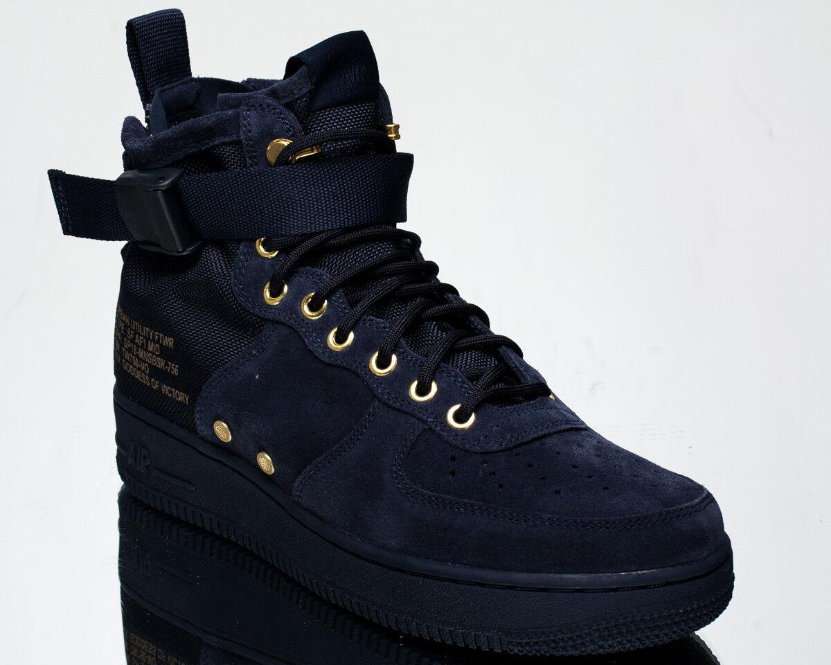 Nike sf air force 1 metà ossidiana af1 uomini di scarpe da ginnastica nuove 917753-400 camoscio