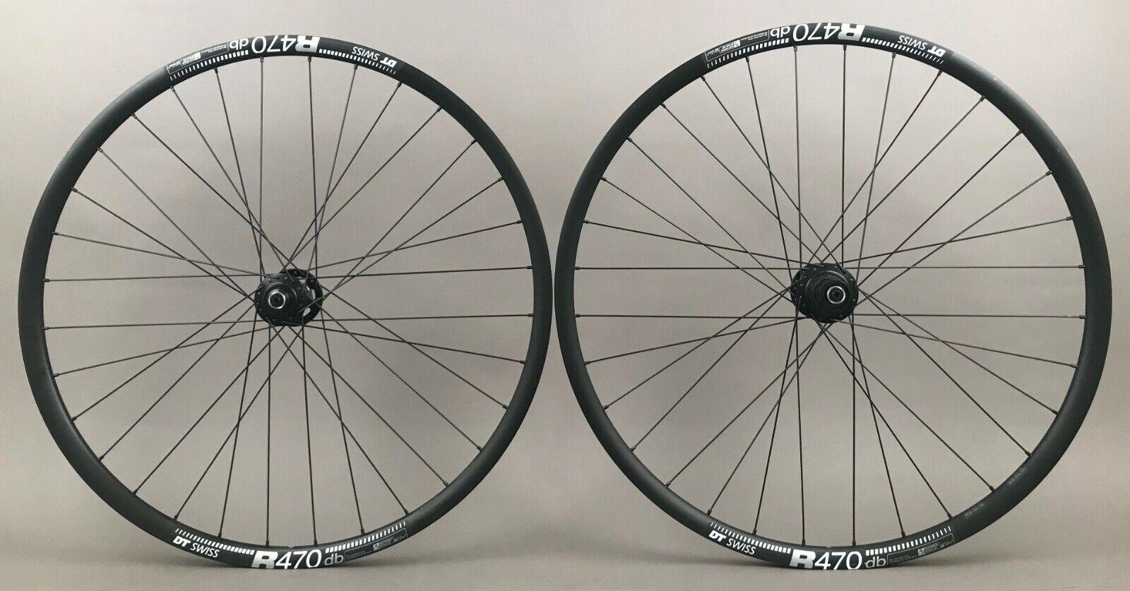 Image 1 - DT R470 Road CX Gravel Bike Disc Brake Wheelset SRAM 900 Hubs 8 9 10 11 Speed