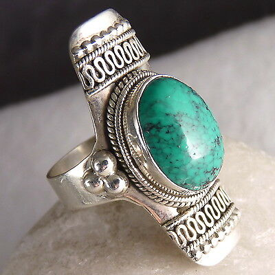 Gemstone Vintage SILVERSARI Ring Size US 7 Solid 925 Stg Silver & TURQUOISE