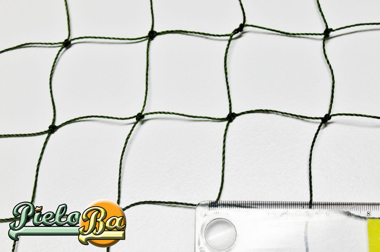 Teichnetz Netz Teichschutznetz  6 m x 85 m   Masche 5 cm Volierennetz oliv