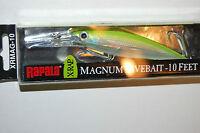 Rapala Xrap X-rap Magnum Xrmag-10 Sfc 4 3/8 3/4 Oz Silver Fl Chartreuse Lure