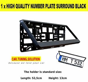 1-x-CAR-NUMBER-PLATE-SURROUND-HOLDER-FRAME-FOR-ANY-CAR-NEW