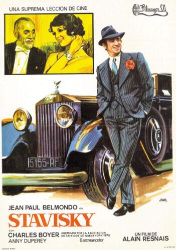 Stavisky Jean-Paul Belmondo Charles Boyer movie poster