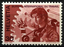 Switzerland Int. Labour Office 1975 SG#LB102, 30c MAn At Lathe MNH #D45858
