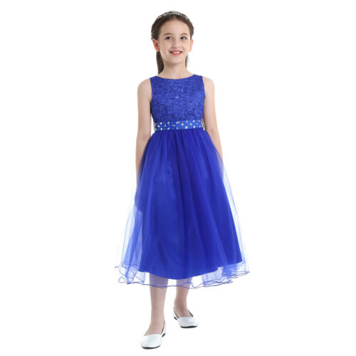 Flower Girl Princess Dress Pageant Wedding Bridesmaid Formal Gown Tutu Dresses