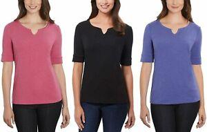 Ellen Tracy Ladies' Elbow Sleeve Top Cotton T-Shirt