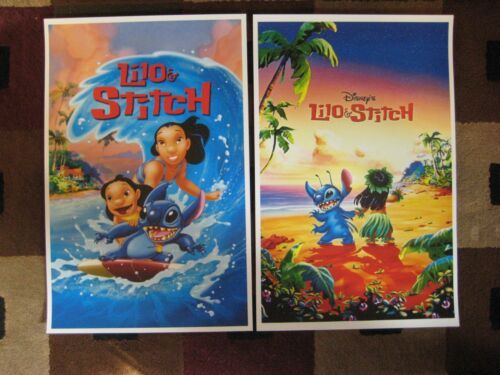 "Movie Collector/'s Poster Prints Lilo /& Stitch 11/"" x 17/"" Set of 2"