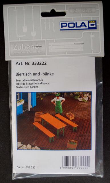 Pola 333222 Biertisch und -Bänke Bierzeltgarnitur Camping Oktoberfest Ladegut