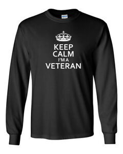 Men-039-s-Keep-Calm-I-039-m-A-Veteran-T-Shirt-Soldier-US-United-States-Tee-Army-Military