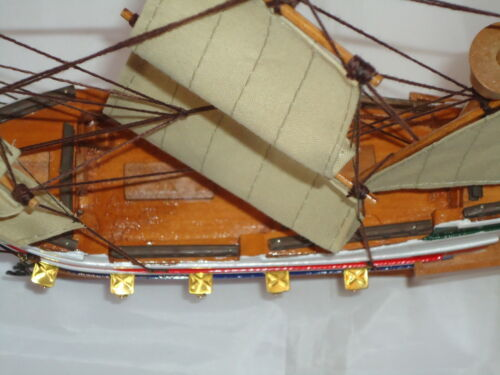 Model Golden Hind Ship On Stand Made From Wood Lots Of Detail maritime