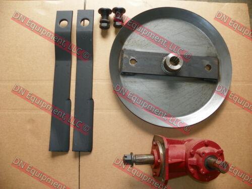 and Blade Bolts Blades 6 Spline Gear Box HD Blade Pan 5/' Rotary Cutter Kit