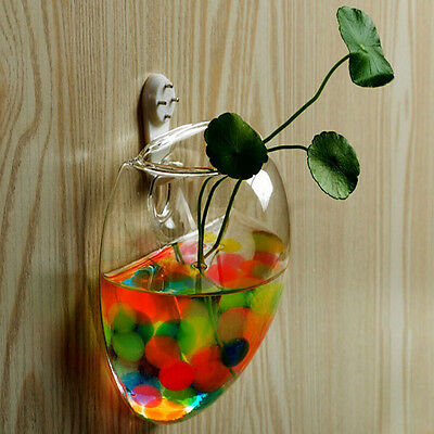 Mouse Glass Wall Hanging Vase Water Container Home Coffee Shop Wedding Decor