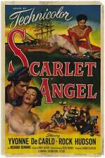 SCARLET ANGEL Movie POSTER 27x40 Yvonne De Carlo Rock Hudson Richard Denning