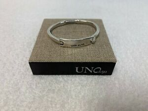 """NWT Uno de 50 Silver-plated Link Chains Bracelet """"Snow Chains"""" $275"""