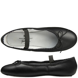 Spotlights Ballet Shoes ABT Womens Choose Size Black Leather Full - Abt ballet shoes