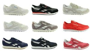 Reebok-Classic-Leather-Cuir-Femmes-Hommes-Chaussures-Sneaker-Baskets-Taille-Au-Choix