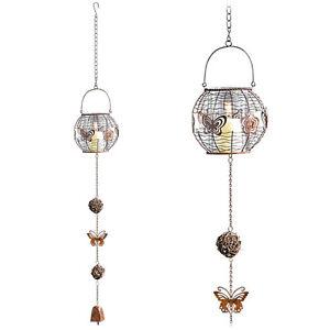 windspiel mit teelicht und glocke klangspiel deko f r. Black Bedroom Furniture Sets. Home Design Ideas